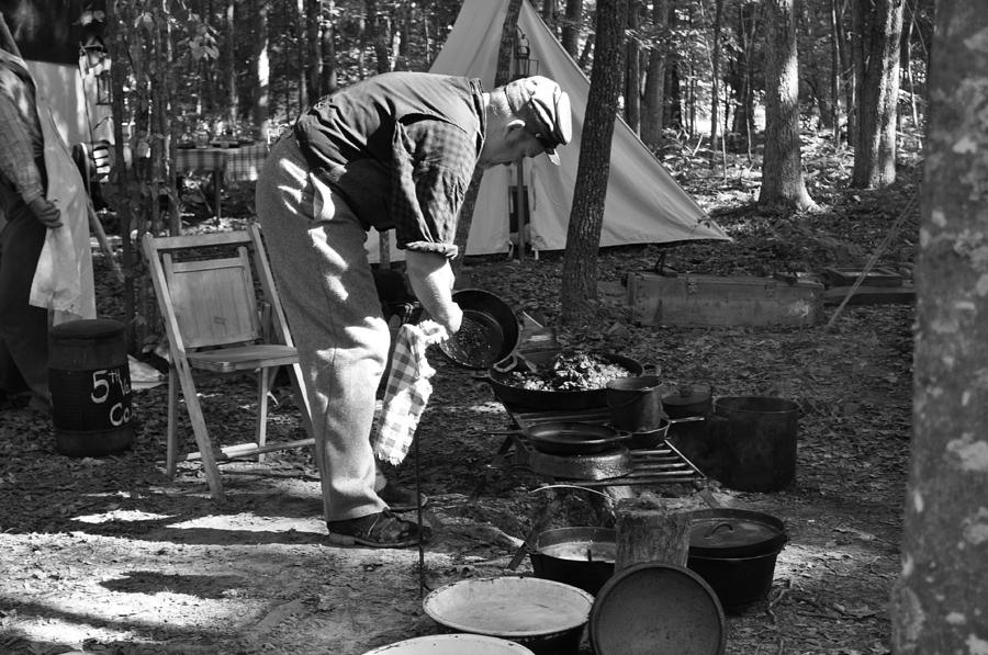 War Photograph - Camp Site by Tammy Price