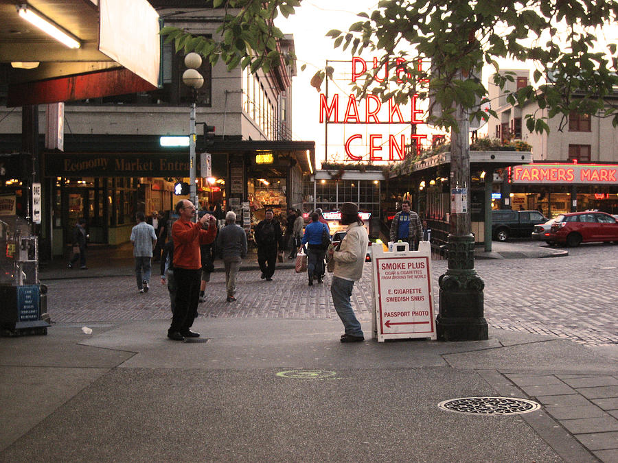 Seattle Photograph - Can I Take Your Picture by Kym Backland