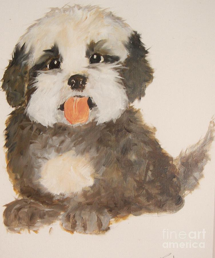 Pets Painting - Can You Really Resist Me by Rachel Carmichael
