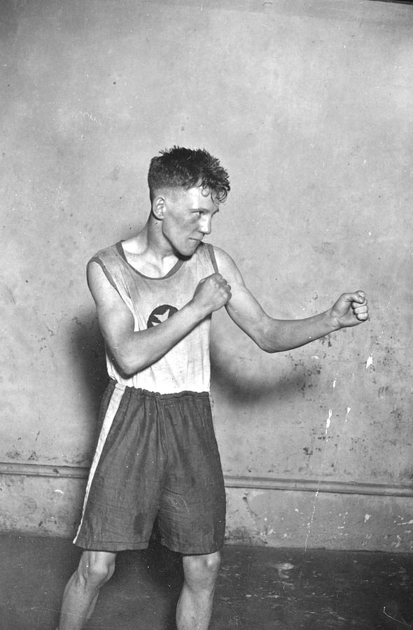 Teenager Photograph - Canadian Boxer by Topical Press Agency