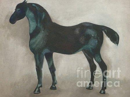 Oil Painting Painting - Canadian Heritage Horse 11 by Catherine Meyers