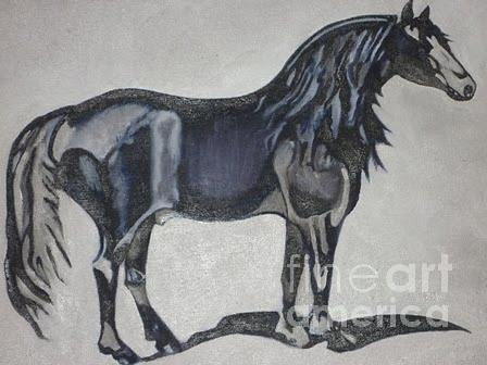 Canadian Horse Painting - Canadian Heritage Horse by Catherine Meyers
