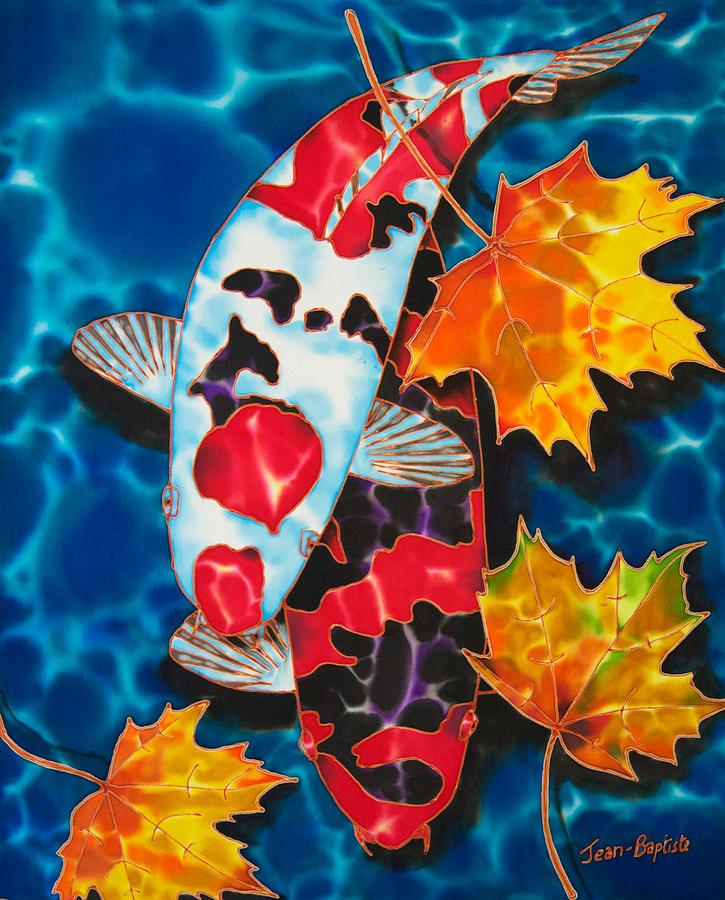 Fish Painting - Canadian Koi by Daniel Jean-Baptiste