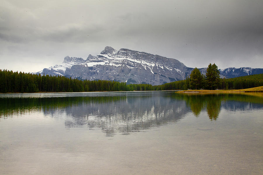 Canadian Rockies Photograph - Canadian Lake 1733 by Larry Roberson