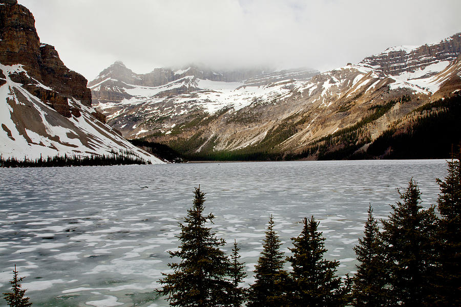 Canadian Rockies Photograph - Canadian Lake 1899 by Larry Roberson
