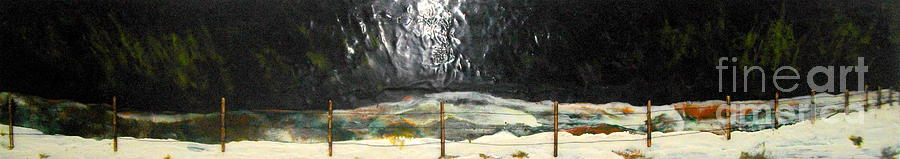 Encaustic Painting - Canadian Poetry - Tribute To Neil Young by Terry Thomas