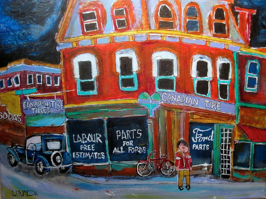 Canadian Tire Painting - Canadian Tire by Michael Litvack