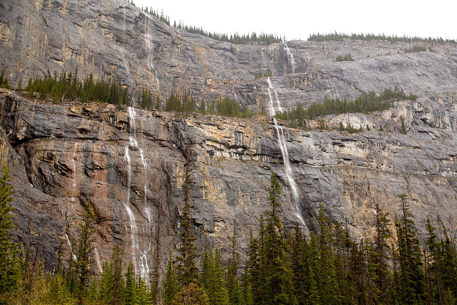 Canadian Rockies Photograph - Canadian Water Fall 1924 by Larry Roberson
