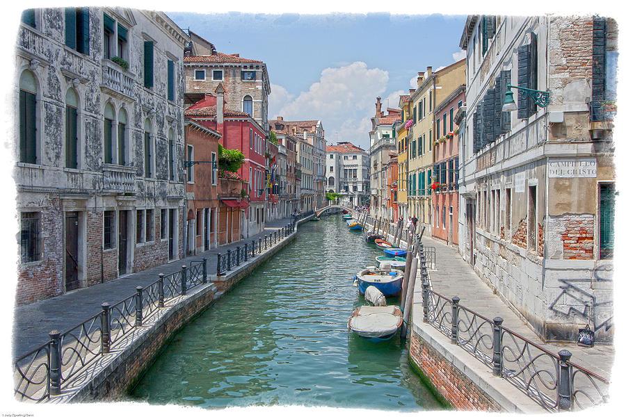 Venice Photograph - Canals Of Venice by Judy Deist