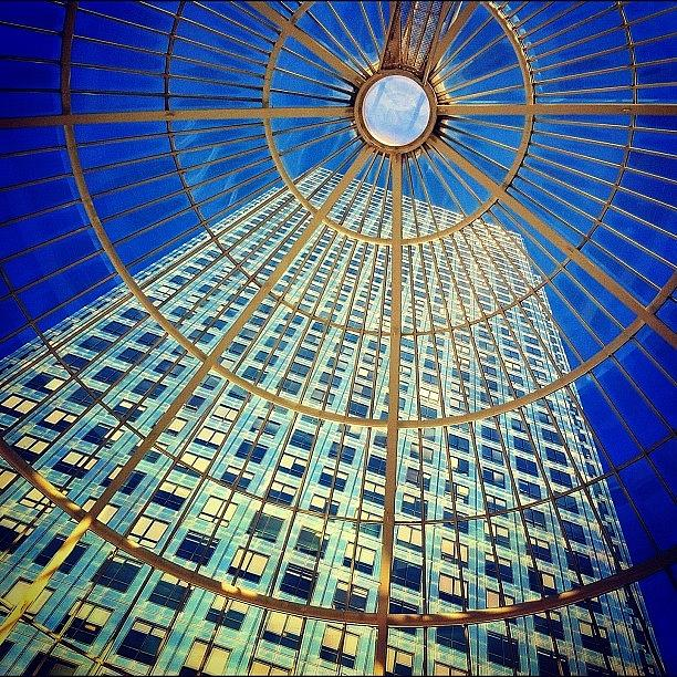 Beautiful Photograph - Canary Wharf Gold by Samuel Gunnell