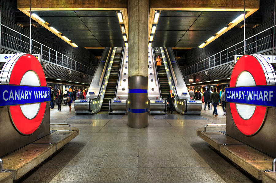 Architecture Photograph - Canary Wharf Station by Svetlana Sewell