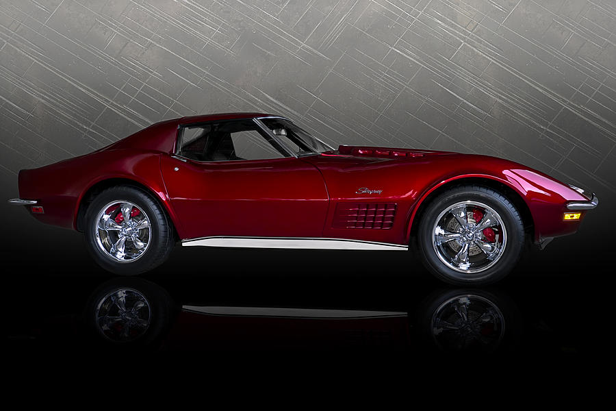 Classic Digital Art - Candy Apple Corvette by Douglas Pittman