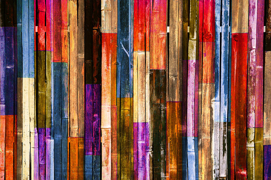 Candy Color Wood Wall Background Photograph By Kritiya Sumpun