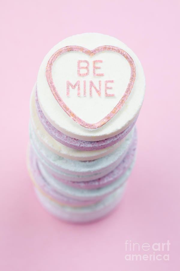 Candy Photograph - Candy With Be Mine Written On It by Neil Overy