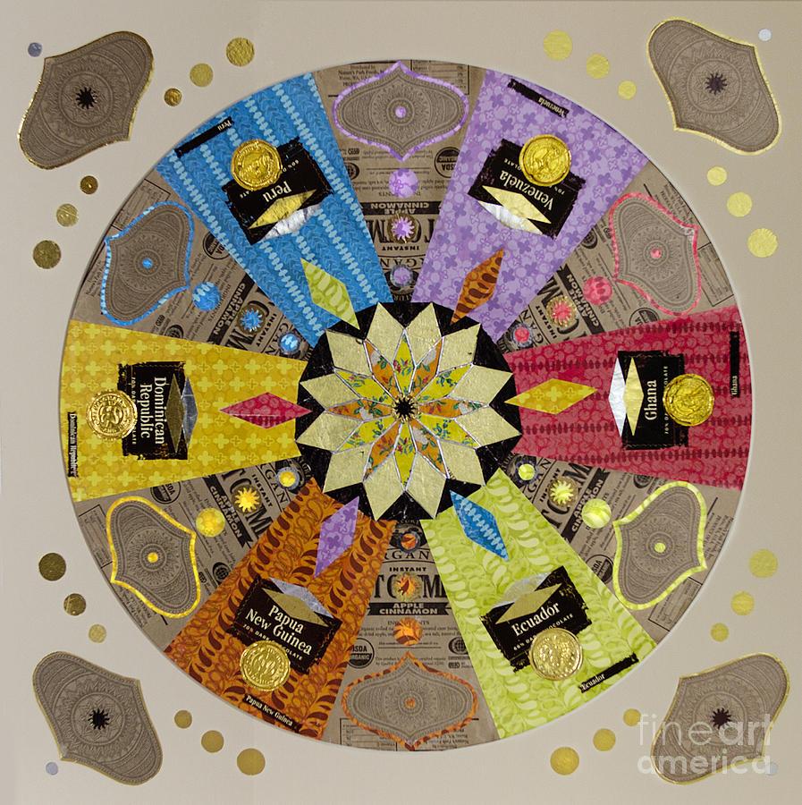 Mandala Mixed Media - Candy Wrapper Mandala by Fourth and Fith Grades
