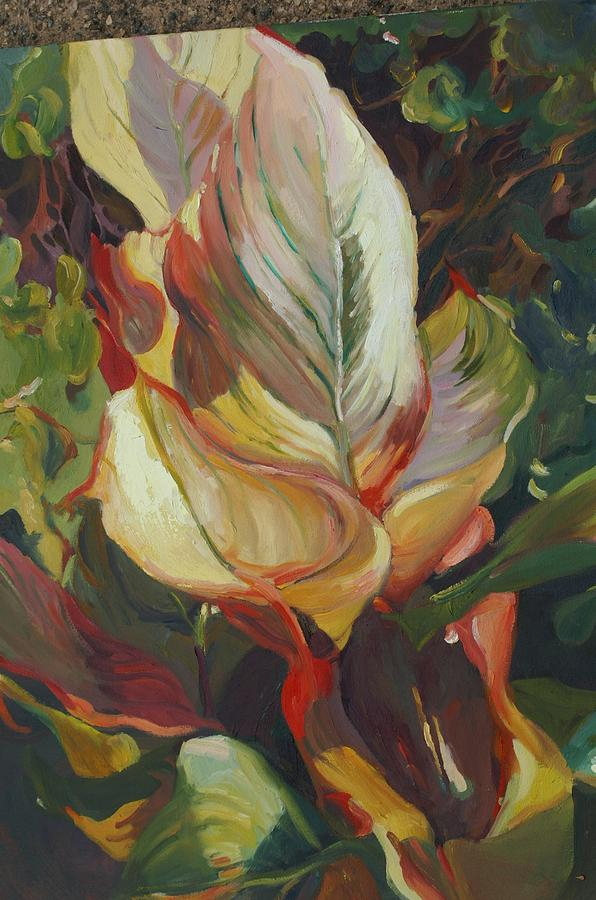 Canna Painting - Canna In Light by Elizabeth Taft