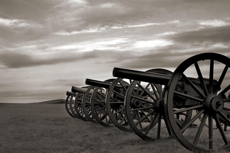 Cannon Photograph - Cannon At Antietam Black And White by Judi Quelland
