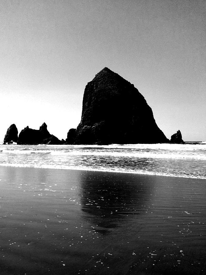 Beach Photograph - Cannon Beach Bnw by J Von Ryan