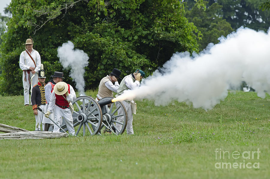 War Of 1812 Photograph - Cannon Fire by JT Lewis