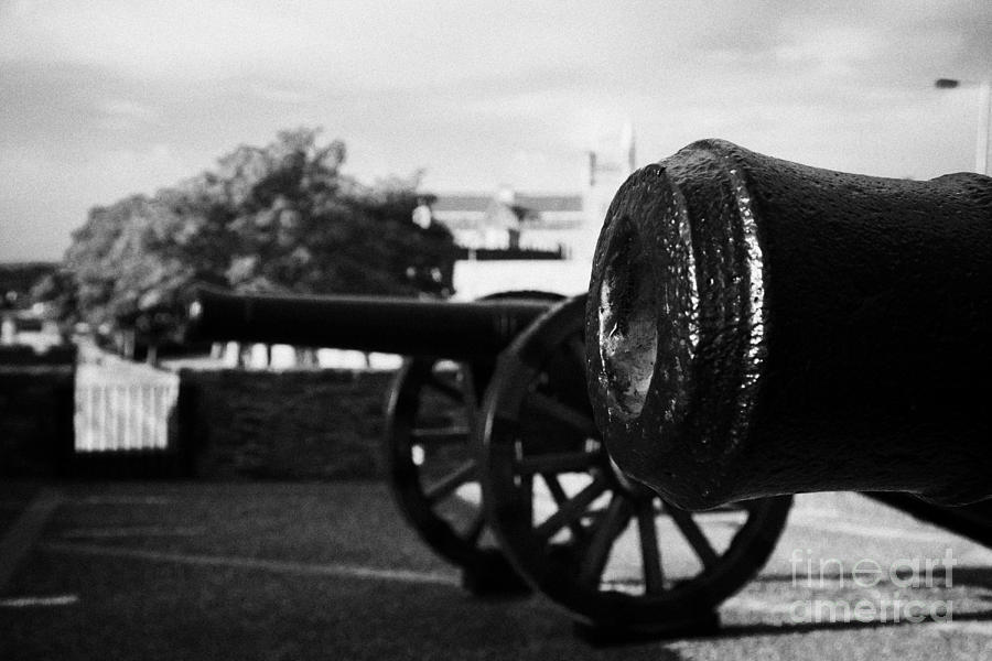 Derry Photograph - Cannons On The Mall Wall And Double Bastion Section Of Derrys City Walls by Joe Fox