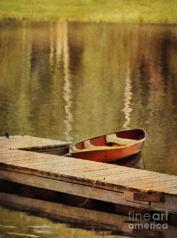 Canoe Photograph - Canoe At Dock by Jill Battaglia