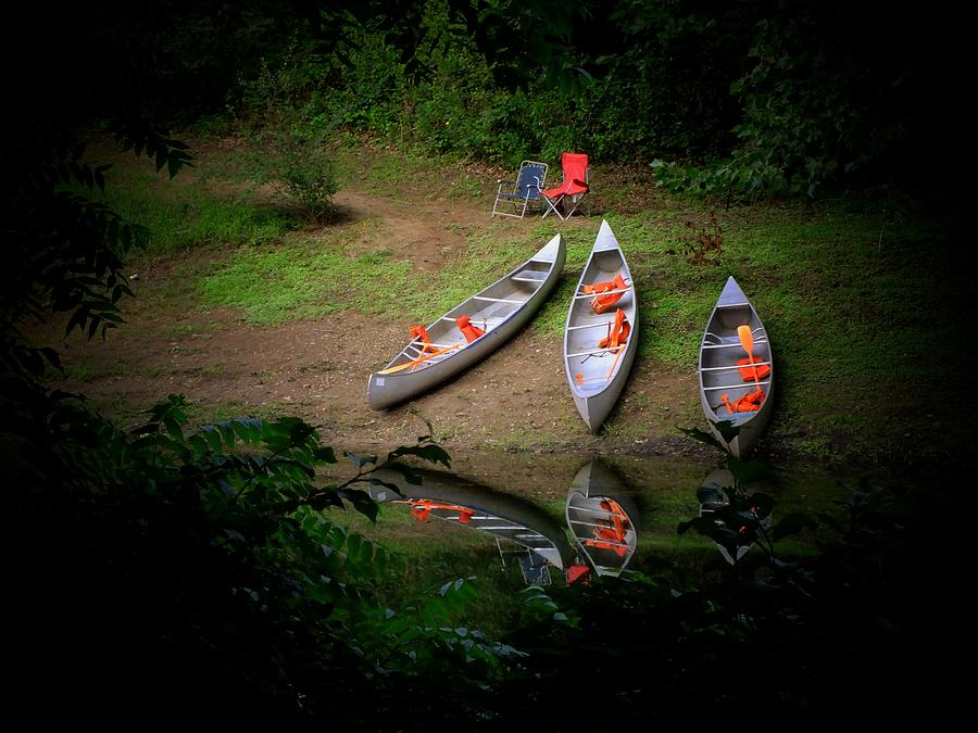 Boat Photograph - Canoe Bank by Michael L Kimble