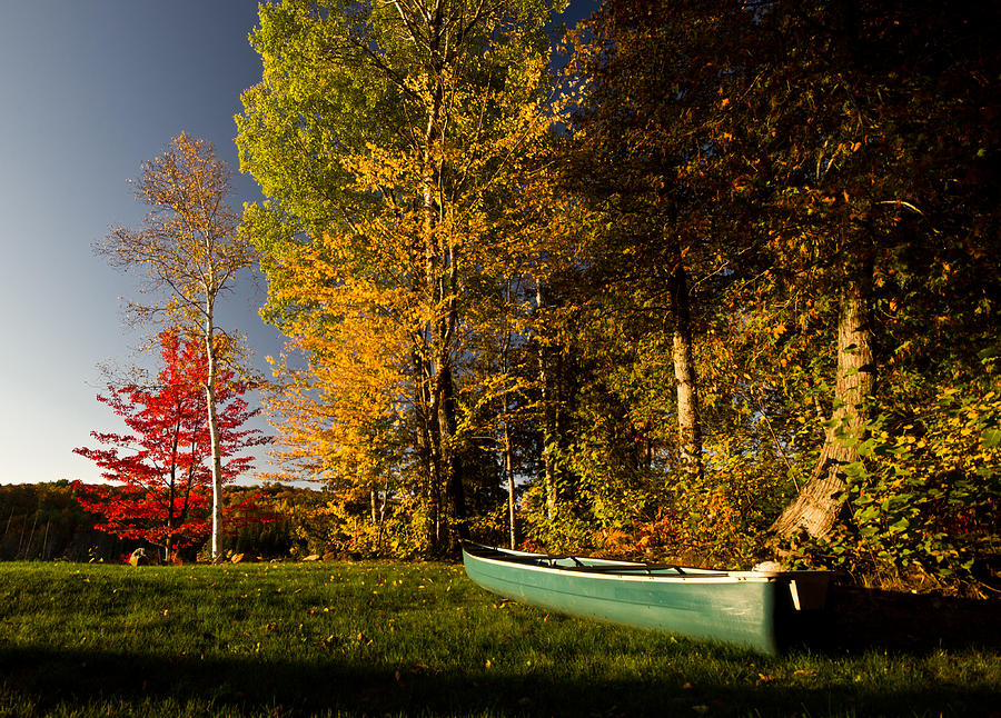 Fall Photograph - Canoe by Cale Best