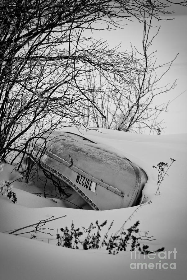 Canoe Photograph - Canoe Hibernation by Ever-Curious Photography