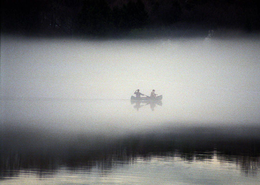 Knoxville Photograph - Canoe In Fog by Kurt Weiss