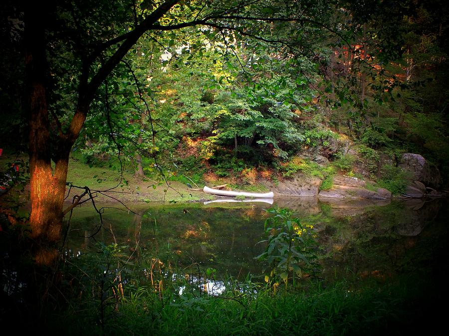 Canoe Photograph - Canoe On Cacapon by Michael L Kimble
