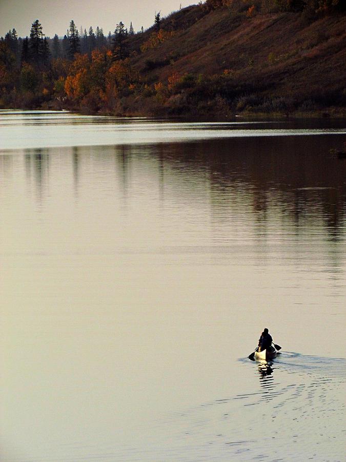 Canoe Photograph - Canoe Tracks by Andrea Arnold