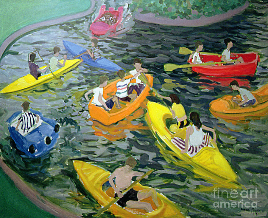 Canoe Painting - Canoes by Andrew Macara