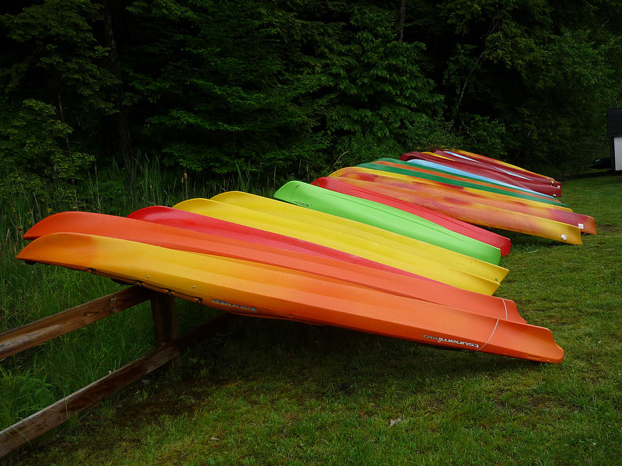 Canoes Photograph - Canoes  by Pamela Turner