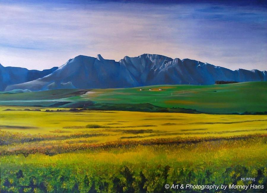 Canola Painting by Morney Hans