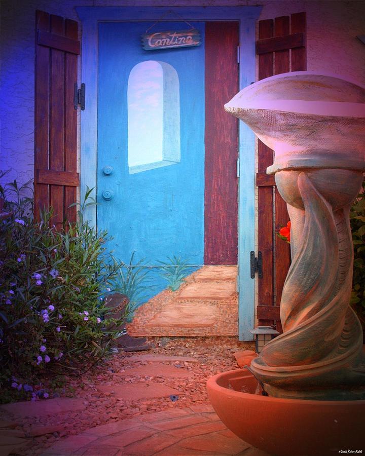 Color Print Digital Art - Cantina Entrance by Daniel Madrid