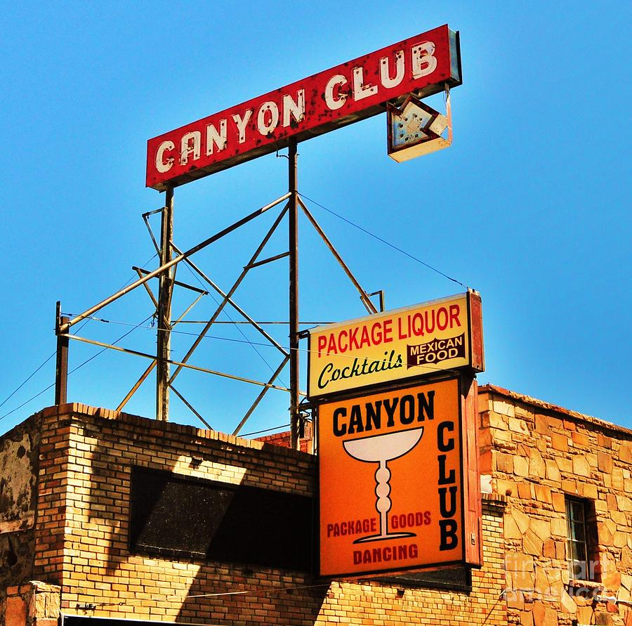 Williams Photograph - Canyon Club Route 66 Williams Arizona by George Sylvia
