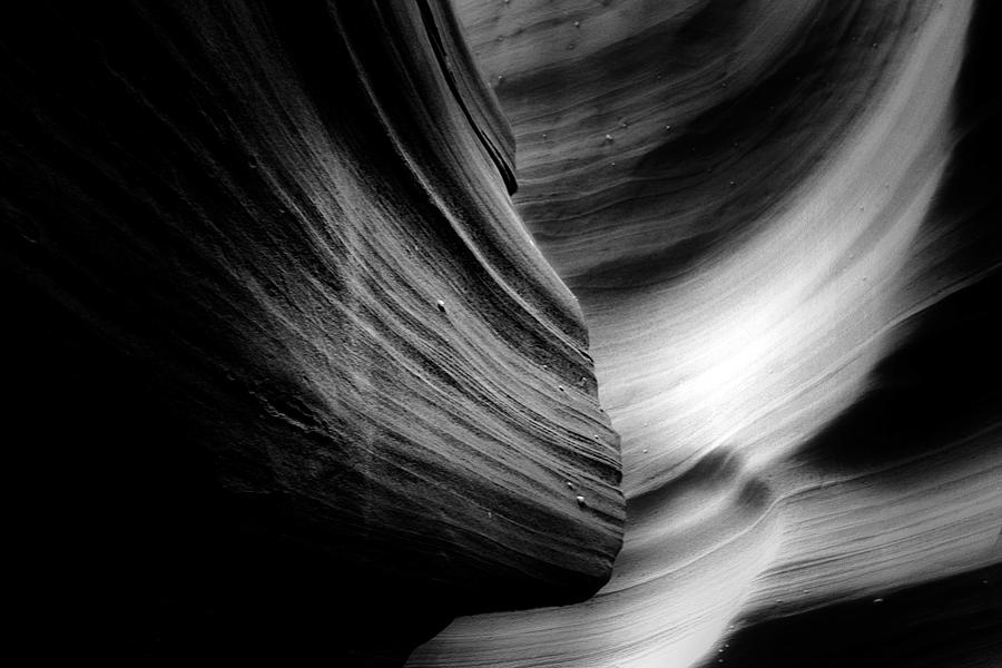 Southwest Photograph - Canyon Curves In Black And White by Christine Till