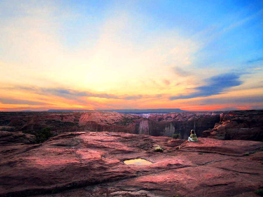 Luminist Photograph - Canyon Sunset by Ric Soulen