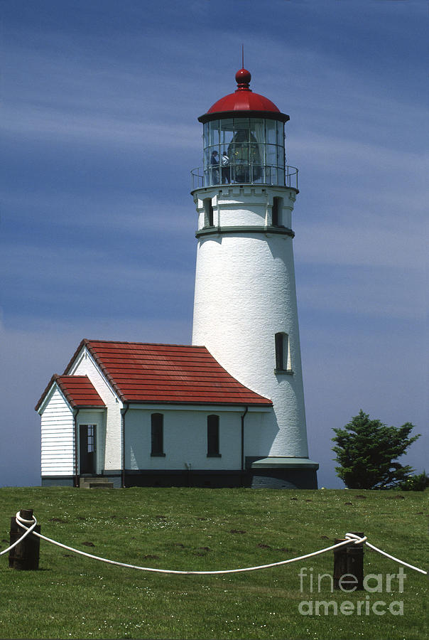 Lighthouse Photograph - Cape Blanco Lighthouse by Sandra Bronstein