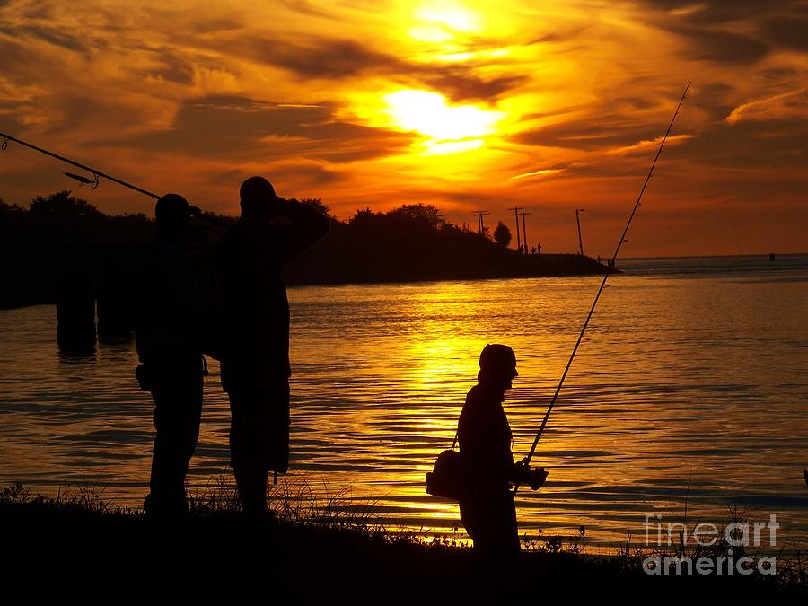 Cape Cod Canal Fishing Photograph by John Doble
