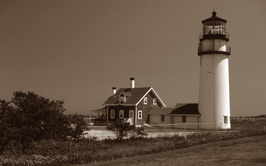 Lighthouses Photograph - Cape Cod Lighthouse by Skip Willits