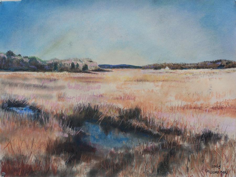 Landscape Pastel - Cape Cod Marsh by Geoffrey Workman