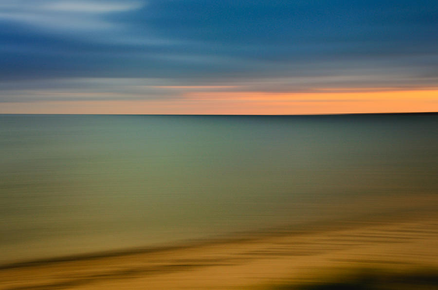 Impressions Photograph - Cape Cod Sunset- Abstract  by Expressive Landscapes Fine Art Photography by Thom