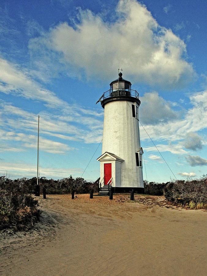 Marthas Vineyard Photograph - Cape Pogue Lighthouse Marthas Vineyard by Dave Mills