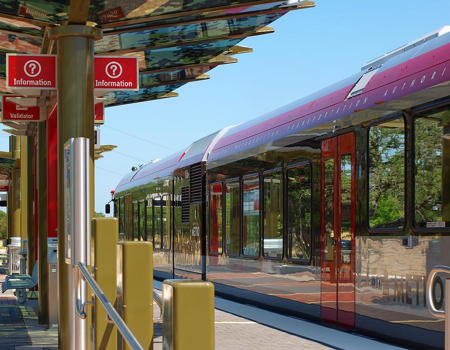 Capital Metro Rail Austin Photograph - Capital Metro Rail Austin Texas by James Granberry