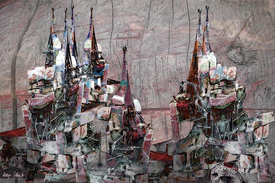Fantasy Digital Art - Cappadocian Chimneys by Helga Schmitt