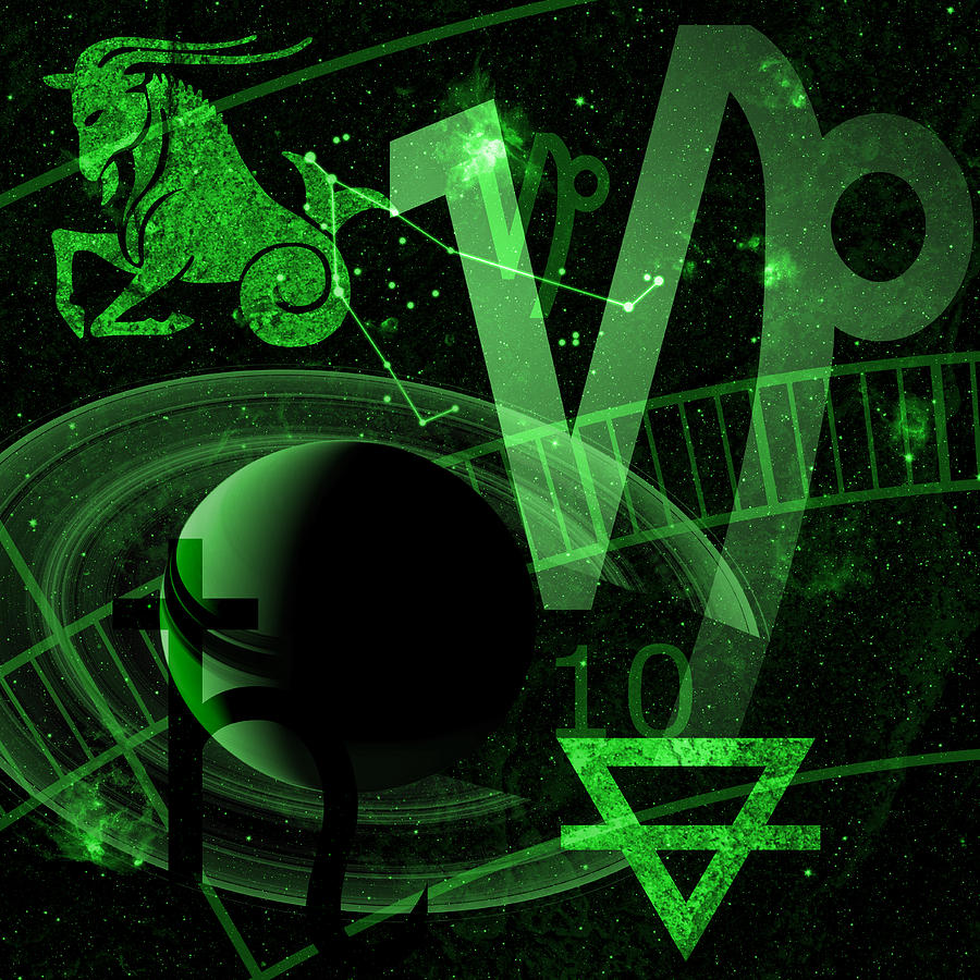 Horoscope Digital Art - Capricorn by JP Rhea