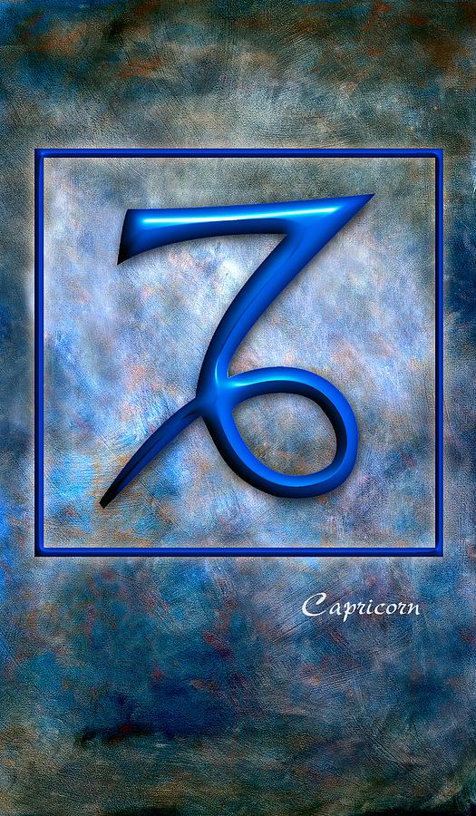 Framed Pyrography - Capricorn  by Mauro Celotti