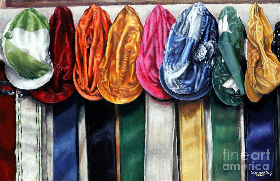 Derby Painting - Caps And Girths by Thomas Allen Pauly