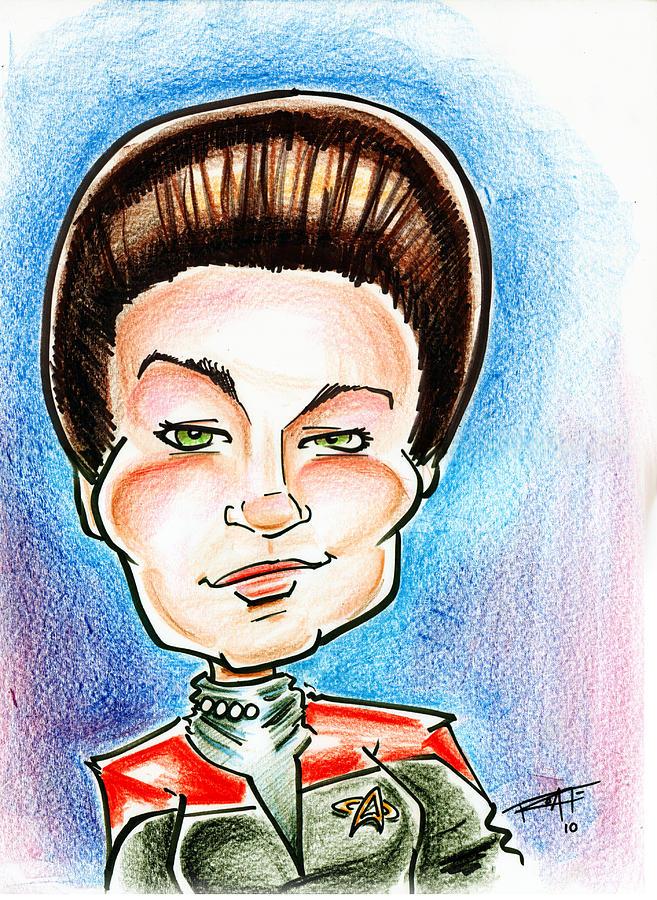 Star Trek Drawing - Captain Jayneway by Big Mike Roate